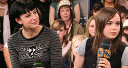 Ellen Page and Diablo Cody